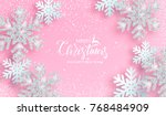 christmas poster with shiny... | Shutterstock .eps vector #768484909