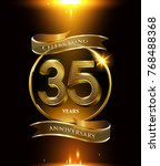 35 years anniversary logo with...   Shutterstock .eps vector #768488368