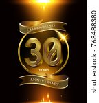 30 years anniversary logo with... | Shutterstock .eps vector #768488380