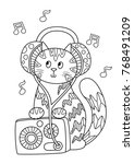 outlined doodle anti stress... | Shutterstock .eps vector #768491209