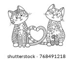 outlined doodle anti stress... | Shutterstock .eps vector #768491218