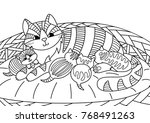 outlined doodle anti stress... | Shutterstock .eps vector #768491263
