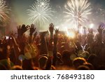 crowd at concert   summer music ... | Shutterstock . vector #768493180