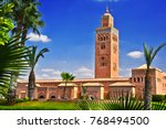 koutoubia mosque in the... | Shutterstock . vector #768494500