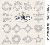 geometric hand drawn sunburst ... | Shutterstock .eps vector #768495070