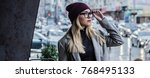 great style. panoramic view of... | Shutterstock . vector #768495133