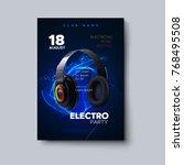 electronic music festival... | Shutterstock .eps vector #768495508