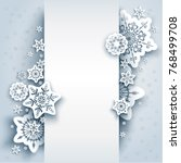 winter holiday paper cut... | Shutterstock .eps vector #768499708