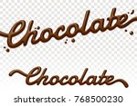 chocolate text isolated on... | Shutterstock .eps vector #768500230