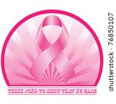 think pink design. vector | Shutterstock .eps vector #76850107