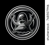 ghost mascot  icon  and game... | Shutterstock .eps vector #768507946