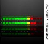 graphic representation of sound ... | Shutterstock .eps vector #768509740