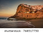 view of beautiful town of... | Shutterstock . vector #768517750