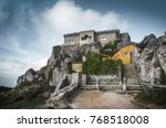 view of peninha sanctuary in a... | Shutterstock . vector #768518008