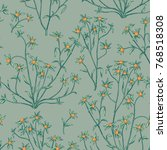 floral seamless pattern. nature ... | Shutterstock .eps vector #768518308
