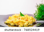 pilaf  rice with meat | Shutterstock . vector #768524419