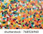detail of a multicolored glass... | Shutterstock . vector #768526960