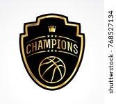 a basketball champions badge... | Shutterstock .eps vector #768527134