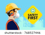 safety equipment  construction... | Shutterstock .eps vector #768527446
