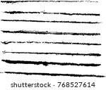 set of grunge brush strokes | Shutterstock .eps vector #768527614