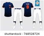 baseball uniform  sport jersey  ...   Shutterstock .eps vector #768528724