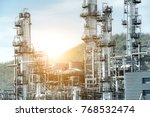 close up industrial view at oil ... | Shutterstock . vector #768532474