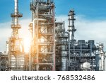 close up industrial view at oil ... | Shutterstock . vector #768532486