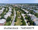 Aerial View Of A Neighborhood...