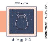 kettlebell line icon | Shutterstock .eps vector #768543454