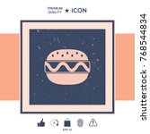 hamburger or cheeseburger icon | Shutterstock .eps vector #768544834