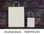 mock up of brown craft paper... | Shutterstock . vector #768545134