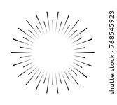 sun burst icon  sun icon  | Shutterstock .eps vector #768545923