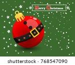 Christmas Ball On A Color...