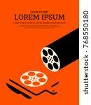 movie and film modern retro... | Shutterstock .eps vector #768550180