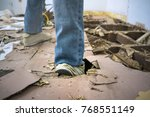 damaged area of eating termites. | Shutterstock . vector #768551149