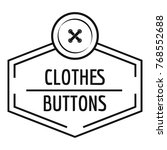 clothes button craft logo.... | Shutterstock .eps vector #768552688