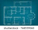 vector architectural blueprint... | Shutterstock .eps vector #768559060