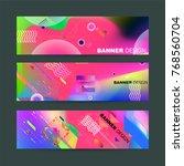 fluid color background. liquid ... | Shutterstock .eps vector #768560704
