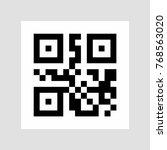 sample qr code icon. vector | Shutterstock .eps vector #768563020