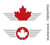 Two Canadian Maple Leaf Design...