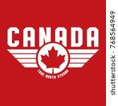 a canadian maple leaf design... | Shutterstock .eps vector #768564949