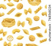 pasta pattern seamless ... | Shutterstock .eps vector #768568234