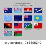 flags countries australia and... | Shutterstock .eps vector #768568240