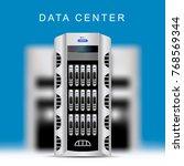 servers data center cloud... | Shutterstock .eps vector #768569344