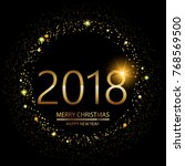 happy new year background with... | Shutterstock .eps vector #768569500