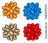 set of beautiful bows set for... | Shutterstock .eps vector #768569503