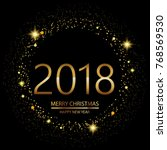 happy new year background with... | Shutterstock .eps vector #768569530