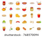 food icon set. cartoon set of... | Shutterstock .eps vector #768570094
