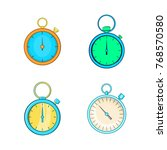 stopwatch icon set. cartoon set ... | Shutterstock .eps vector #768570580