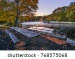 autumn morning at southford... | Shutterstock . vector #768575068